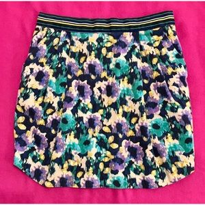 H&M Multi Colored Casual Skirt Pockets